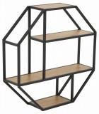 Cumpara ieftin Etajera din metal si pal Seaford Octagon Stejar / Negru, l77xA20xH77 cm