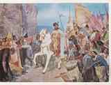 bnk cp D Stoica - Intrarea lui Mihai Viteazul in Alba Iulia - Vedere necirculata
