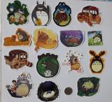 Cumpara ieftin Set de 30 stickere/ abtibild waterproof laptop/telefon/ moto - Totoro