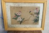 Tablou vechi chinezesc matase
