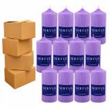 4 Baxuri 12 Lumanari Parfumate Lavanda, cilindru 13 CM