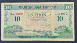 Irlanda de Nord 10 pounds lire 2014 Ulster Bank Limited