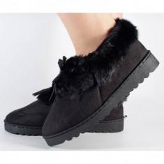 Papuci de casa negri (cod 418011)