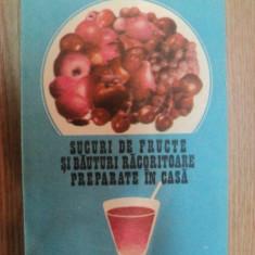 SUCURI DE FRUCTE SI BAUTURI RACORITOARE PREPARATE IN CASA de JEAN JURUBITA , 1984