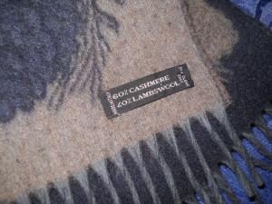 BOSS, fular nou cashmere, lana pura, cu 2 fete