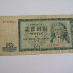 MDBS - BANCNOTA GERMANIA DEMOCRATA - DDR - 10 MARCI - 1964