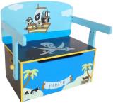 Cumpara ieftin Mobilier 2 in 1 pentru depozitare jucarii Blue Pirate
