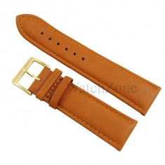 Curea ceas maro-portocaliu catarama aurie NAGATA 10mm 12mm 14mm 16mm 18mm 20mm 22mm 24mm WZ1703