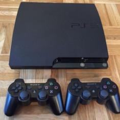 PS3 slim modat + 2 manete + GTA 5, Fifa 19 , Minecraft 30 jocuri