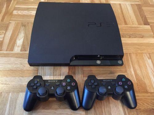 PS3 superslim modat 500Gb + 2 manete + GTA 5, Fifa 19 , Minecraft 20 jocuri
