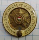 Insigna Ungaria, Conc. sportiv militar, tanar participant