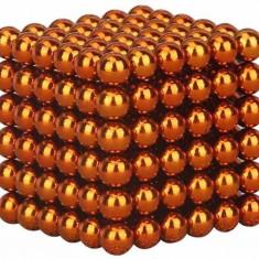 Neocube 216 bile magnetice 5mm, joc puzzle, culoare portocaliu, peste 14 ani