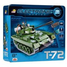 Set Constructie Cobi, Electronic, Tanc T72 cu Bluetooth (450 piese).