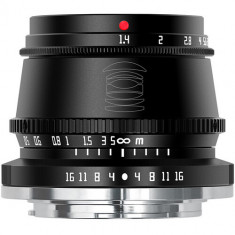 Obiectiv TTArtisan 35mm F1.4 Negru pentru Canon EOS M Mount
