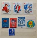 Romania - Lot Vignete  - 8 Valori diferite + Bonus (poza 2), Stampilat
