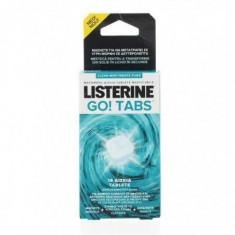 Tablete masticabile fara zahar Listerine Go! Tabs Clean Mint, 16 bucati