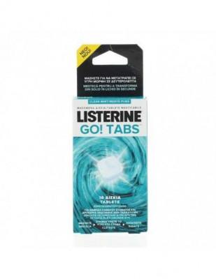 Tablete masticabile fara zahar Listerine Go! Tabs Clean Mint, 16 bucati foto