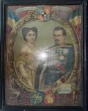 Cumpara ieftin Litografie originala Alexandru Ioan Cuza - Aniversarea a 50 de ani de la Unire