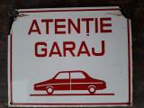 Tabla emailata garaj auto romaneasca comunista
