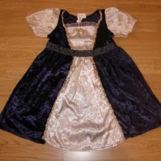 costum carnaval serbare rochie medievala regina pentru copii de 2-3-4 ani