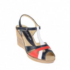 Sandale dama din piele naturala cu platforme de 7 cm - S50RABL