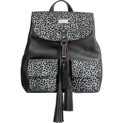 Light Grey Animal Print Limited Edition Leather Backpack foto
