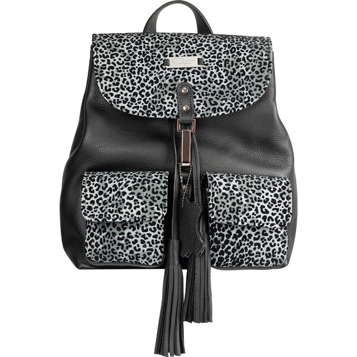 Light Grey Animal Print Limited Edition Leather Backpack