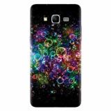 Husa silicon pentru Samsung Grand Prime, Rainbow Colored Soap Bubbles