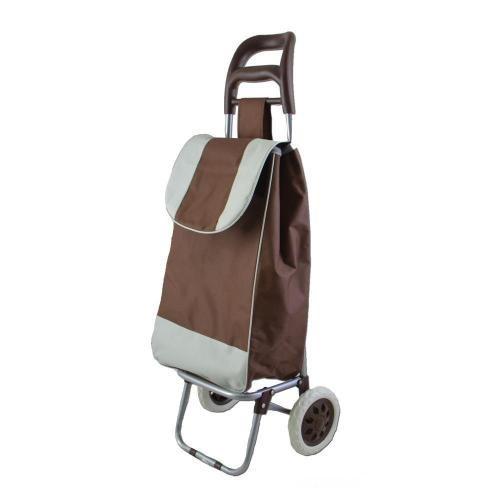 Carucior de cumparaturi Troller maron