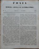 Ziarul Foaia pentru minte , inima si literatura , nr. 51 , 1853 , Alexandrescu