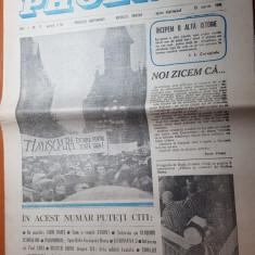 ziarul phoenix 19 martie 1990-interviu cu martirul liviu babes si cu paul ciuci