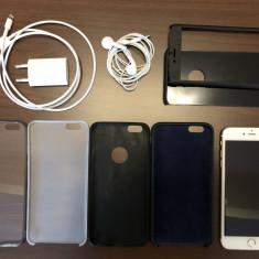 Iphone 6 Plus Gold, 64 GB, Unlocked, cadou 5 huse, Auriu, Smartphone, Neblocat, Apple