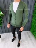 Bluza fashion barbati - cu nasturi - kaki - COLECTIE NOUA A6445