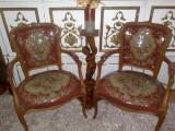 Fotoliu/set fotolii baroc/rococo/Louis Xv,goblen manual,vintage/antic, Paturi si seturi dormitor, 1900 - 1949
