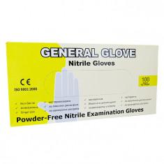Manusi nitril General Glove marimea S, albastre, 100 bucati/cutie, nepudrate