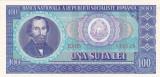 ROMANIA RSR 100 lei 1966  UNC