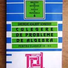 Gh. Adalbert Schneider - Culegere de probleme de algebra ptr. cl. IX-XII (2007)