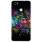 Husa silicon pentru Huawei P9 Lite, Rainbow Colored Soap Bubbles