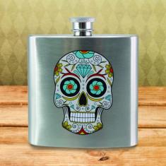 Plosca - Sugar Skull Hip Flask   50 Fifty Gifts