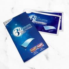 Benzi Albire Dinti, 3D White Teeth Whitening (fara peroxid), Cutie 7 Plicuri (14 Benzi)