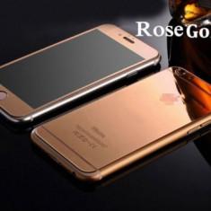 Folie Sticla iPhone 6 iPhone 6s Tuning ROSE GOLD Oglinda Fata+Spate Tempered Glass Ecran Display LCD