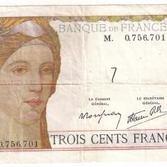 FRANTA 300 FRANCI FRANCS ND(1938) VF