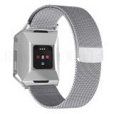 Cumpara ieftin Curea magnetica compatibila Fitbit Ionic, metalica, argintiu