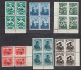 1934 LP 107 JAMBOREEA NATIONALA SUPRATIPAR MAMAIA BLOCURI DE 4 TIMBRE MNH, Nestampilat
