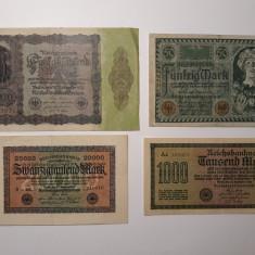 BANCNOTE GERMANIA-50MARCI 1920 -1000MARCI 1922 -20000MARCI 1923 -50000MARCI 1922