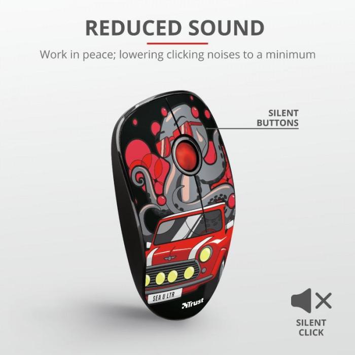Mouse fara fir trust sketch silent click wireless mouse -