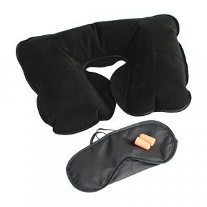Set pentru odihna cu masca de ochi, perna gonflabila si dopuri pentru urechi