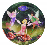 Farfurii petrecere copii 23 cm Fairies, Radar 61291, Set 10 buc