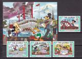 Gambia 1985 Disney Twain MI 566-569 + bl. 15 MNH w69c, Nestampilat
