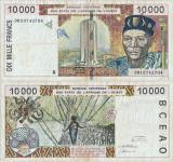 1998 , 10,000 francs ( P-714 Kf ) - Senegal ( Statele Africane de Vest )